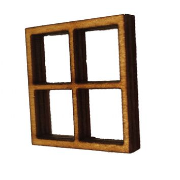 Miniature Windows Set of 4: Fairy Garden Accessories / Wooden Accessory Dolls House