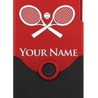 Personalized Case/Cover for iPhone 4/4S - TENNIS RACKETS, RAQUETS - Laser Engraved for Free