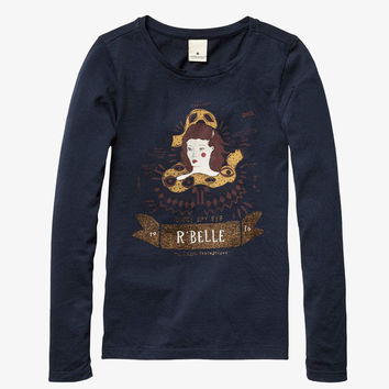 Scotch RBelle Worked Out T-Shirt-Navy - 1454-07.50405 - FINAL SALE