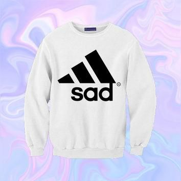 Sad Adidas Sweatshirt | Unisex S-XXL | Tumblr Kawaii Cute Cool Seapunk Clothing Jumper