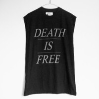 shopwithasianstereotypes: Death is Free Muscle Tee
