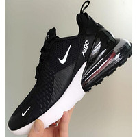 Nike Air Max 270 Trending Unisex Personality Air Cushion Sport Shoes Running Sneakers Black I