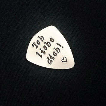 Ich liebe dich guitar pick, personalized plektrum, guitarist gift for him, custom guitar pick, Valentines Day, love guitar pick, plectrum
