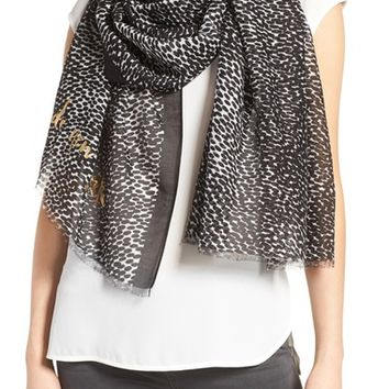 kate spade new york dappled cotton & silk scarf | Nordstrom