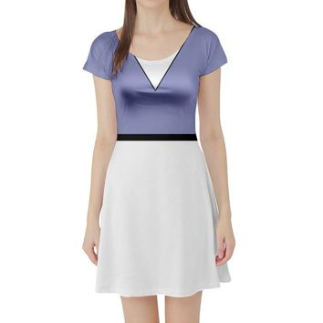 Daisy Duck Inspired Short Sleeve Skater Dress