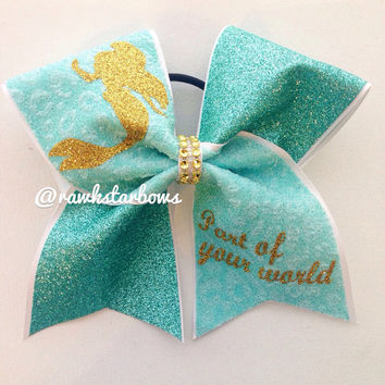 Ariel Cheer Bow The little Mermaid bow