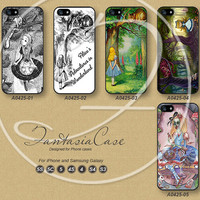 Alice, iPhone 5 case, iPhone 5C Case, iPhone 5S case, iPhone 4 Case, Disney, Phone Cases, Samsung Galaxy S3, Samsung Galaxy S4, FA0425