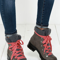 Madden Girl Bunt Stone Multi Grey Lace-Up Boots