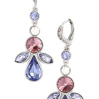 Women's Givenchy 'Crescent' Crystal Drop Earrings - Silver/