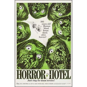Horror Hotel Movie poster Metal Sign Wall Art 8inx12in