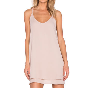 krisa Double Layer Cami Dress in Plaster