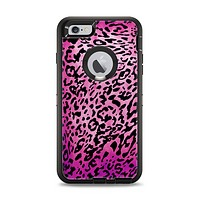 The Hot Pink Cheetah Animal Print Apple iPhone 6 Plus Otterbox Defender Case Skin Set