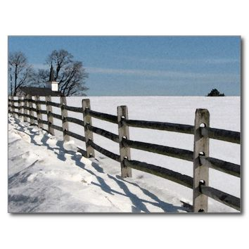 Country Church in Winter 2017 Nature Calendar Postcard