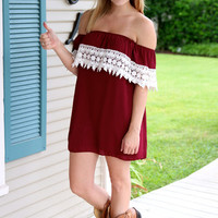 South Pacific Gameday Dress - Maroon and Ivory - Hazel & Olive