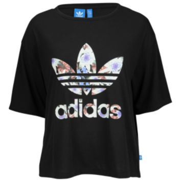 adidas Originals Lotus Cropped Logo T-Shirt - Women's at Lady Foot Locker