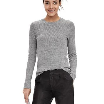 Banana Republic Womens Micro Rib Sweater Pullover