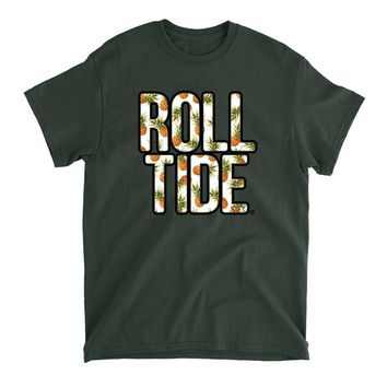 Official NCAA Alabama Roll Tide - Hawaiian Floral 18ALHAW02 Mens / Womens Boyfriend T-Shirt
