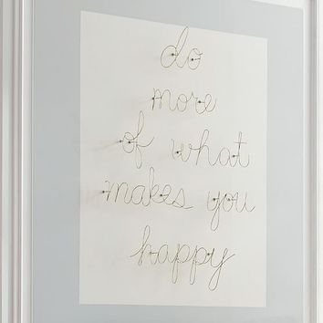 Do More of What Makes You Happy Wire Décor Set