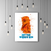 Star Wars Chewbacca Baby Gift Boy, Star Wars Baby Chewbacca Art, Watercolor Nursery Poster, Chewy, Chewbacca Poster, Wookie, Chewie, Wookiee