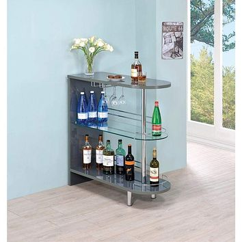 Alluring Contemporary  Bar Table, Gray