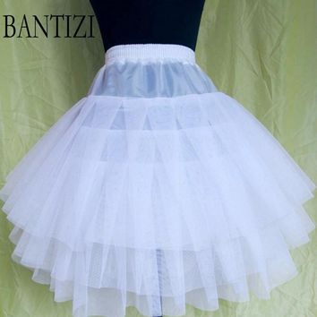 Three-Layer Wedding Petticoat 2017 Short Gauze Ballet Skirt Slip Under5skirt crinoline