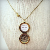 I Love You To The Moon And Back - Brass Locket With Moon Charm