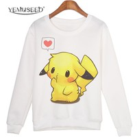 White Plus Size XL Winter Fashion Hoodies Cartoon Kawaii 2015 Sweatshirts Comfortable Pullovers Students Clothing WMH38