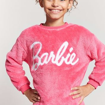 Girls Plush Barbie Sweatshirt (Kids)