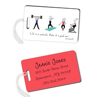 Workout Luggage Tags