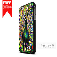 Peacock Tiffany Stained Glass NN iPhone 6 Case