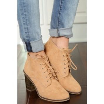 Stomp With Sass Booties-Toffee