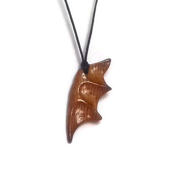 Wood Necklace, Wooden Necklace, Wood Jewelry, Wood Pendant, Wing Necklace, Wing Jewelry, Wing Pendant, Rustic Necklace, Statement Jewelry