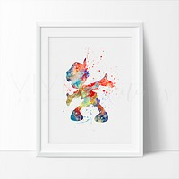 Pinocchio Watercolor Art Print