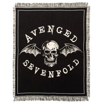 Avenged Sevenfold Deathbat Woven Blanket