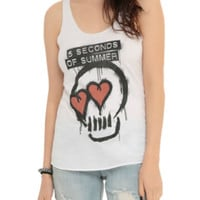 5 Seconds Of Summer Skull Heart Girls Tank Top