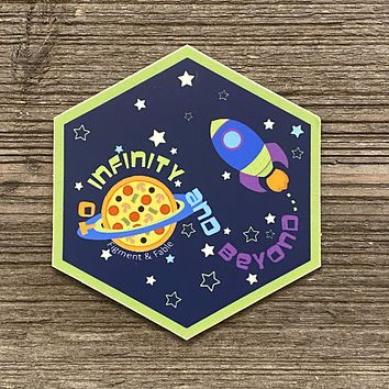 To Infinity & Beyond Vinyl Sticker