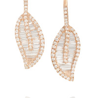 Anita Ko - Leaf 18-karat rose gold diamond earrings