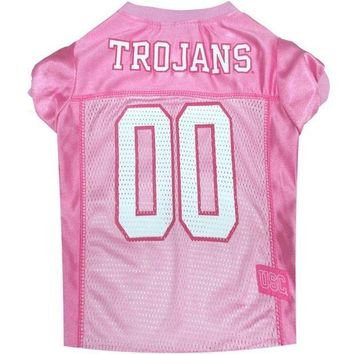 PEAPYW9 Southern Cal Trojans Pink Pet Jersey