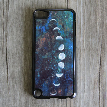 Moon Phases Nebula iPod Touch 5 case and iPod Touch 4 Case,iTouch 5/4 Rubber Case