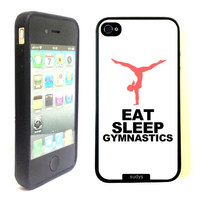 SudysAccessories Eat Sleep Gymnastics Thinshell Case Protective iPhone 4 Case iPhone 4S Case