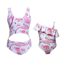 Mother and Daughter One Piece Swimsuit
