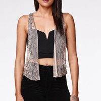 Kendall & Kylie Embellished Vest - Womens Shirts - Brown - One