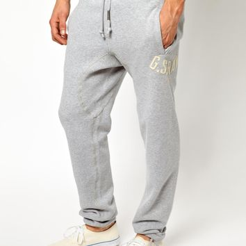 G Star Sweat Pants Rune Tapered Logo Applique