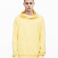 Oversized Pastel French Terry Hoodie in Washed Butter