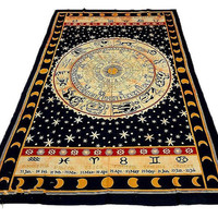 ZODIAC FIELD TAPESTRY : Astrology, Stars, Constellation, Tapestry, Indian, Tie-Dye, Hippie, Urban Outfitters, Watercolor, Wall Decoration