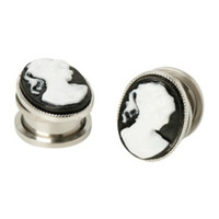 Steel Female Cameo Spool Plug 2 Pack