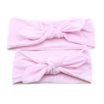 1 Set Fashion Mom and Me Boho Turban Headband Knotted Headband Me and Mommy Cotton Headwrap Hair Accessories