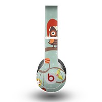 The Retro Christmas Owls with Ornaments Skin for the Beats by Dre Original Solo-Solo HD Headphones
