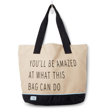 TOMS Khaki Youll Be Amazed Transport Tote Bag
