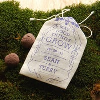 Wedding Favor Seed Bombs Personalized DIY by visualingual on Etsy